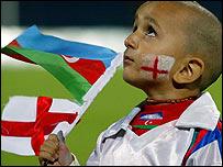 Юный азербайджанский болельщик
