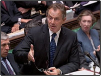 Prime Minister Tony Blair during the weekly Question Time in the House of Commons