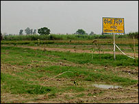 The field where the army will explode the shells from Ghaziabad