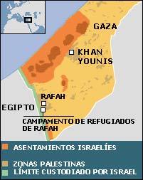 Mapa de Gaza