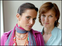 Sophie Anderton and Fiona Bruce