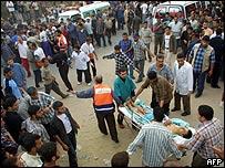 Scene at Rafah hospital