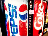 Image of Pepsi and Coca Cola