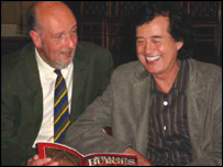 Jimmy Page and author Matthew Williams