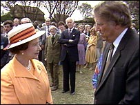 Queen Elizabeth II and Sir Edmund Hillary