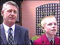 Tim Hood and his son who took part in the scheme