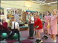 Balsall Common Primary School pupils doing some of the exercises
