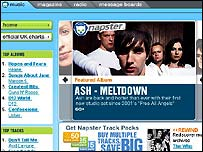 Napster UK screenshot