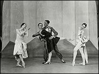 Elizabeth Vincent as Model: Desir du cygne, Marie Rambert as Orchidée, Frederick Ashton as Monsieur Duchic and Frances James as Model: Rose d'Ispahan. Courtesy of Rambert Dance Company. Bertram  Park