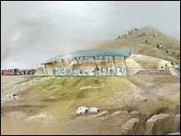 Artist impression of new Snowdon café