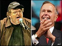 Michael Moore and George Bush Sr