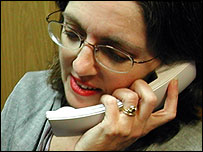 Woman talking on the telephone (generic)