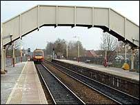 SPT train leaving station