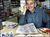 Writer and illustrator Gavin Bishop, Martin Hunter