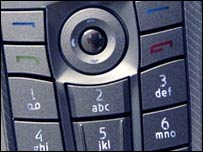 Keypad on Nokia phone