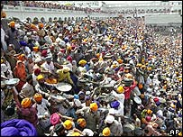 Sikh devotees in Amritsar
