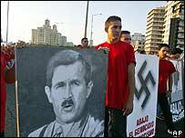 Manifestación anti Bush en La Habana