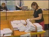 Ceredigion referendum count