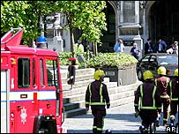 The fire brigade at Westminster Wednesday