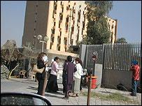 Iraquíes en la Zona Verde