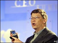 Bill Gates at CEO Summit, AP