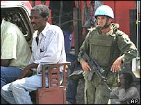 Brazilian peacekeeper in Port-au-Prince