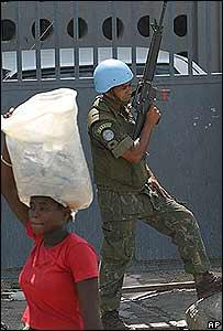 Soldado brasileño en Haití