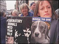 Animal rights demonstrators