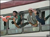 Prisioneros iraquíes liberados.