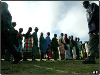 Voters queue up in Malawi