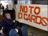 ID card protesters 
