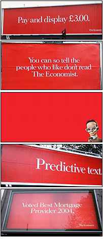 Various Economist adverts
