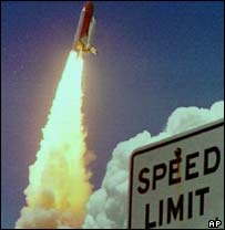 Space Shuttle lifts off, AP