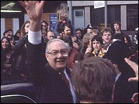Jim Callaghan campaigning in 1979