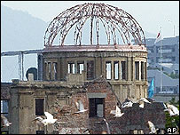 The 59th anniversary to mark the world's first atomic bombing on Hiroshima, western Japan, Aug. 6, 2004