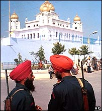 Indian soldiers in Amritsar