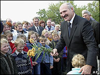 President Lukashenko on the campaign trail