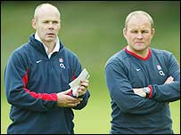 Sir Clive Woodward (left) and Andy Robinson