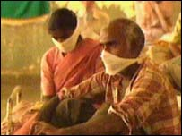 Plague victims in India