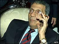 Arab League Secretary General Amr Moussa in Tunis this week