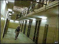 Corridors of Abu Ghraib prison