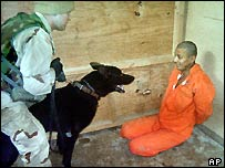 Prisoner at Abu Ghraib (Washington Post)