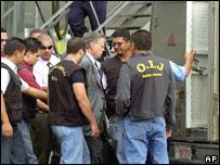 Miguel �ngel Rodr�guez en el momento de su detenci�n