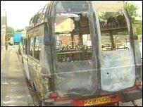 Burned out van in Peterborough in May