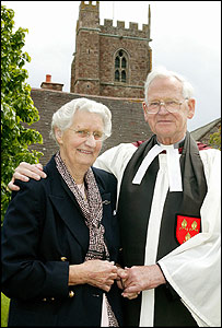Canon Martin with wife Joan (pic by Steve Guscott)