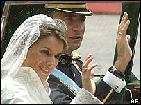 Crown Prince Felipe and his new wife Letizia Ortiz