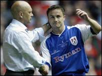 Dennis Wise with Ray Wilkins
