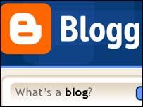 Homepage de Blogger, propiedad de Google.