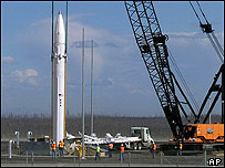 Interceptor missile being installed in America
