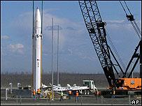 Interceptor missile being installed in America